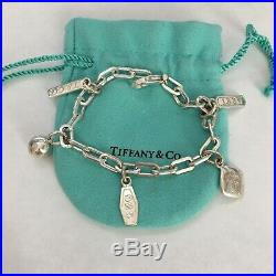 Tiffany & Co. T & Co. Silver Elements 1837 925 Ball Charms 7.5 Bracelet POUCH