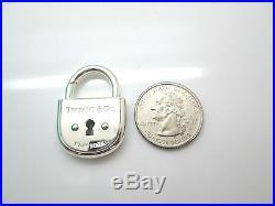 Tiffany NIB Silver Large Arc Lock Padlock Pendant Charm for Bracelet Necklace