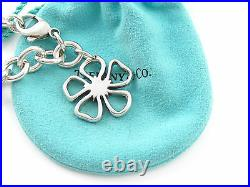 Tiffany RARE Silver Open Flower Charm Bracelet