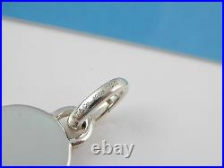 Tiffany Silver 1837 Blue Enamel Charm Pendant 4 Necklace / Bracelet Oval Clasp