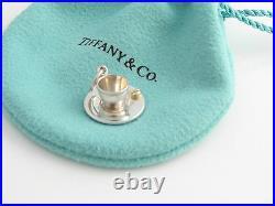 Tiffany Silver 18K Gold Picasso Espresso Tea Cup Charm 4 Bracelet / Necklace