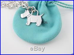 Tiffany Silver Scottie Terrier Dog Charm Bracelet Bangle EXCELLENT