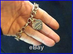 Tiffany sterling silver heart charm bracelet 7 (return to tiffany charm)