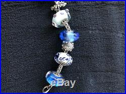 Trollbeads'under the sea' silver charm bracelet new