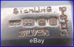 Vintage 6.5'' solid silver charm bracelet 21 charms, G. J. Ltd, London (95.78g)