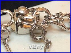 Vintage Estate Sterling Silver Charm Bracelet Double Chain 7 Inches