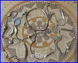 Vintage Good Charma Bracelets & Charms Sterling Silver Lot Of 7 Bracelets $395