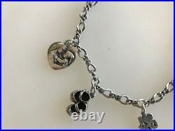 Vintage James Avery Sterling Silver Bracelet I Love You Mom Heart Shoes Charms