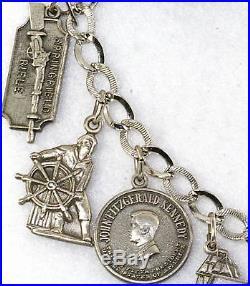 Vintage Massachusetts Sterling Silver Charm Bracelet