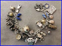 15232db69ea42 Vintage Mechanical Moving Articulated 3D STERLING SILVER 925 Charm ...