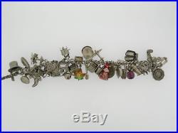 Vintage Sterling Silver Charm Bracelet