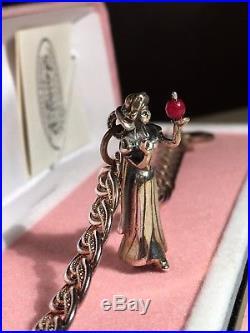 Vintage Sterling Silver Charm Bracelet Snow White Apple Walt DISNEY Limited E