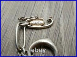 Vintage Tiffany & Co. Elsa Peretti Sterling Silver 5 Charm 7.5 Bracelet