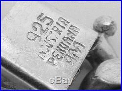 Vtg Industria Peruana Peru Peruvian Sterling Silver Heavy Charm Bracelet 23083