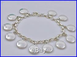 Vtg Tiffany & Co Silver 925 Dangling Circle Charm Bangle 7.5 Bracelet 52gr 1889E