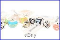 Wholesale Lot of 100 Assorted PERSONA Sterling Silver Charm Bracelet Beads